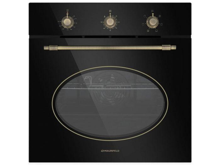 Электрический духовой шкаф MAUNFELD EOEFG.566RBG.MT черный